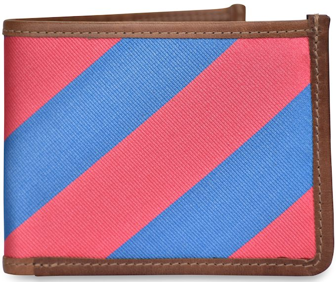 Clarkson Stripe: Billfold Wallet - Red/Blue