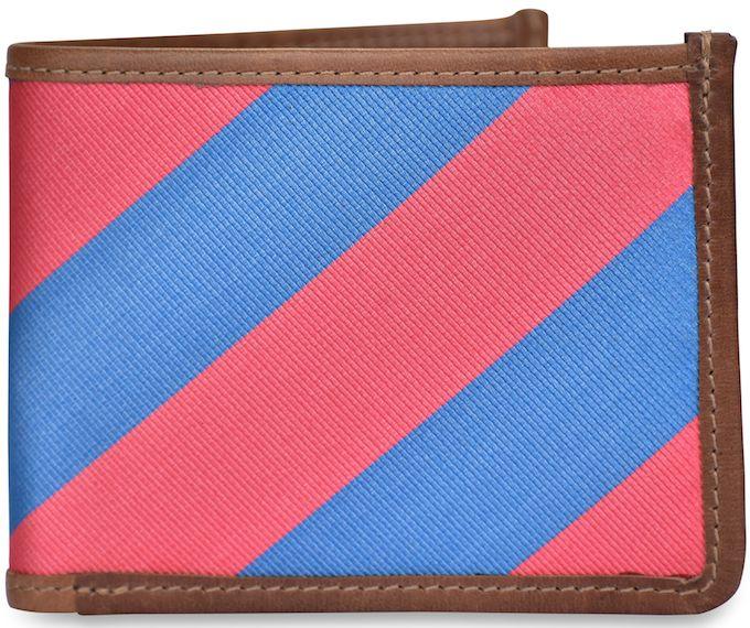 Clarkson Stripe: Billfold Wallet - Red/Blue