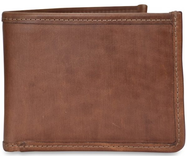 Classic Leather: Billfold Wallet - Brown