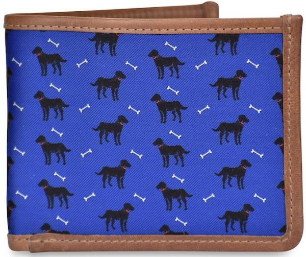 Give a Dog a Bone: Billfold Wallet - Blue