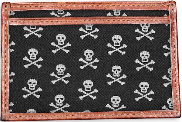 Skull & Crossbones: Card Wallet - Black