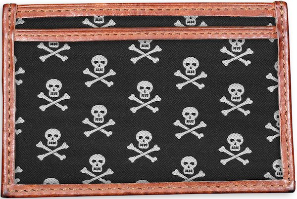 Skull & Crossbones: Card Wallet - Black