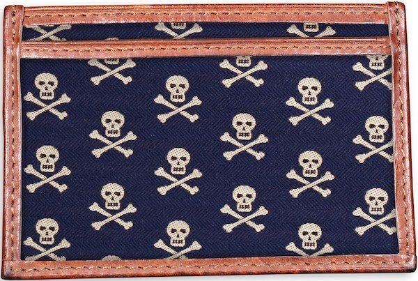 Skull & Crossbones: Card Wallet - Navy