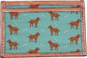 Give a Dog a Bone: Card Wallet - Green