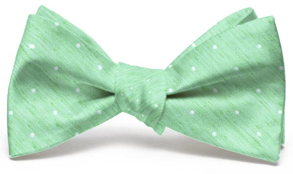 Connect the Dots: Bow - Mint/White