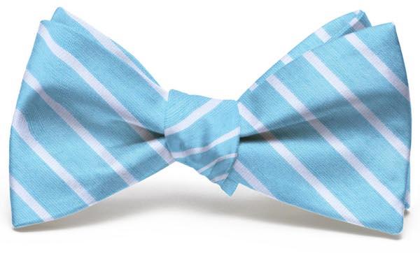 Winning Streak: Bow - Turquoise/White