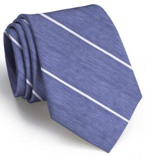 A Thin White Line: Tie - Navy/White