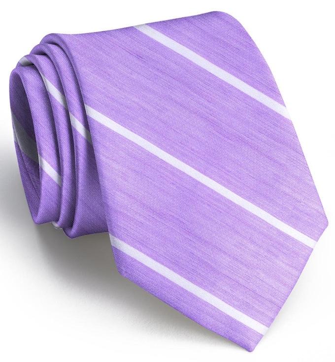 A Thin White Line: Tie - Violet/White