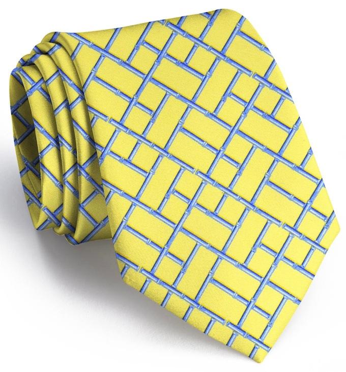 Bamboo Latice: Tie - Yellow
