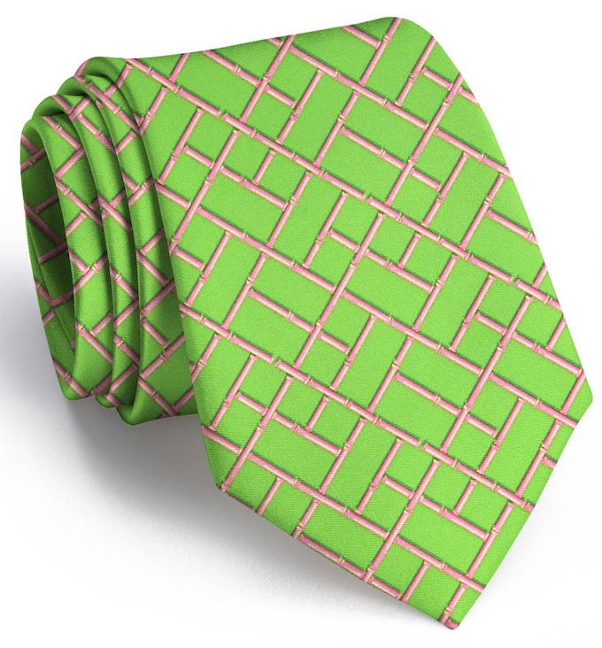 Bamboo Latice: Tie - Mint