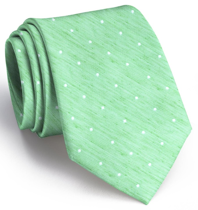 Connect the Dots: Tie - Mint/White