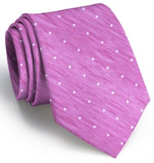 Connect the Dots: Tie - Fuchsia/White