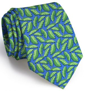 Palm Place: Tie - Mid-Blue