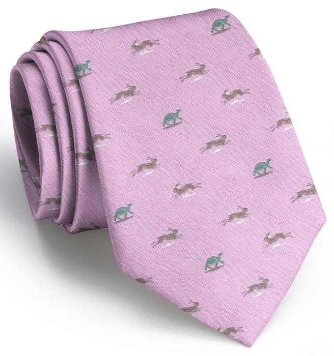 Tortoise & Hare: Tie - Pink Linen