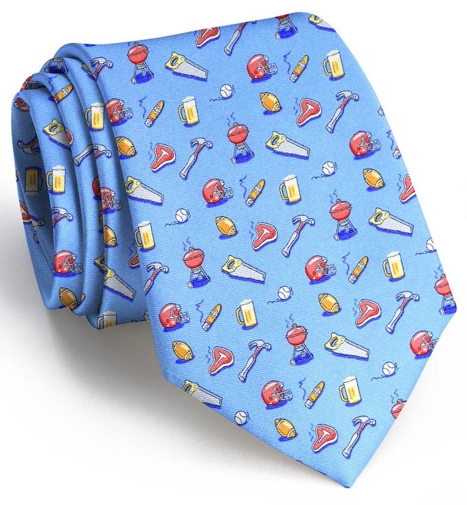 Guy Tie: Extra Long - Light Blue