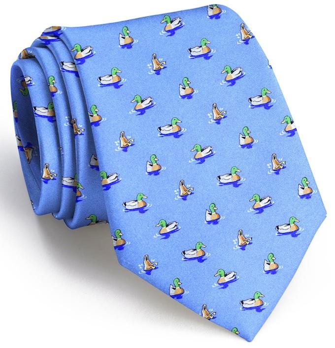 Downward Duck: Tie - Light Blue