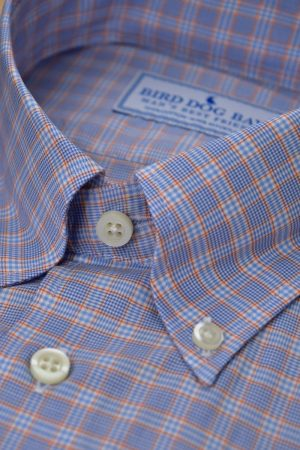 Winslow: Woven Cotton Shirt - Blue/Orange