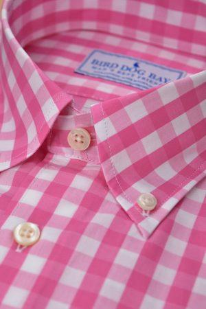 McGovern: Woven Cotton Shirt - Pink