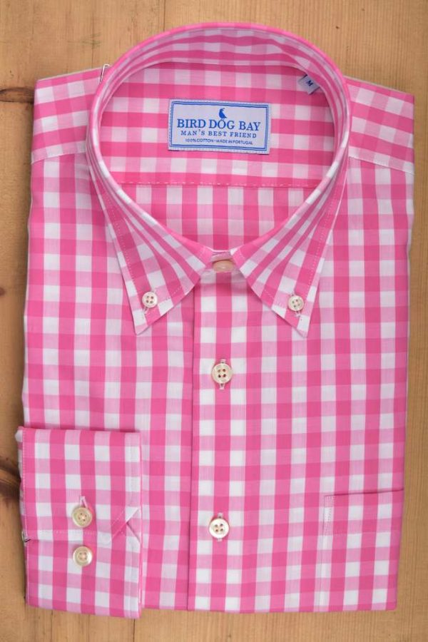 McGovern: Woven Cotton Shirt - Pink