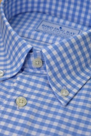 Ashford: Woven Cotton Shirt - Blue