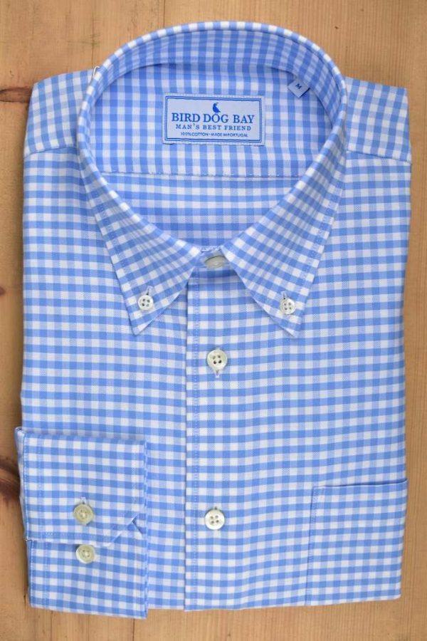 Ashford: Woven Cotton Shirt - Blue