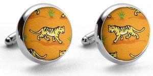 Tiger Tales: Cufflinks - Orange