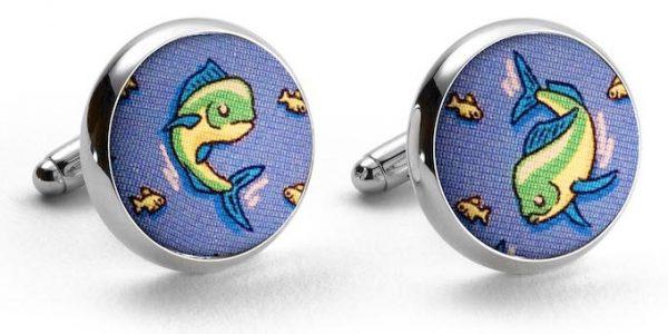Mahi Madness: Cufflinks - Blue