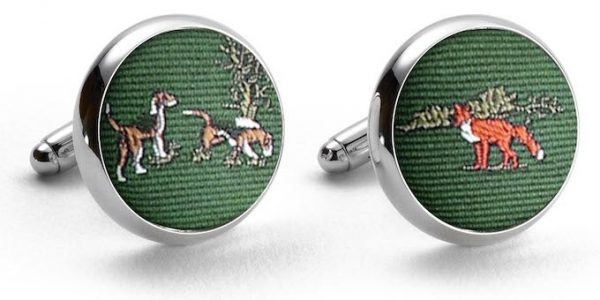 Fox & Hound: Pedigree Cufflinks - Green