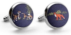 Fox & Hound: Pedigree Cufflinks - Navy