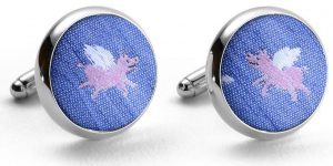 When Pigs Fly: Cufflinks - Blue