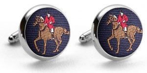 Fox Hunter: Pedigree Cufflinks - Navy