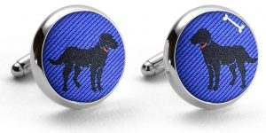 Black Labs: Pedigree Cufflinks - Blue