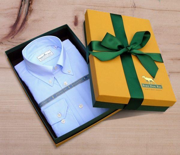 Montgomery: Linen/Cotton Blend Shirt - Blue