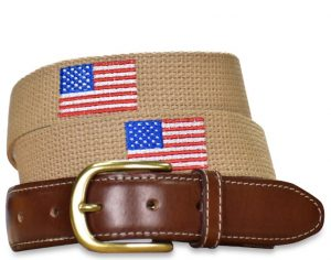 Star Spangled: Embroidered Belt - Beige