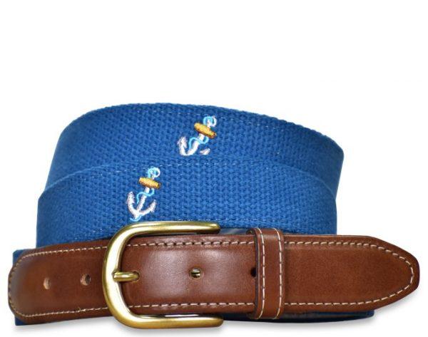 Ahoy: Embroidered Belt - Royal Blue