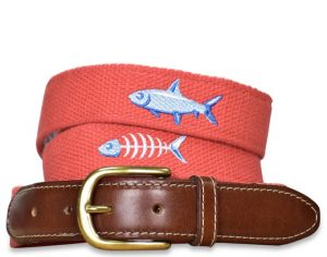 Catch of the Day: Embroidered Belt - Coral