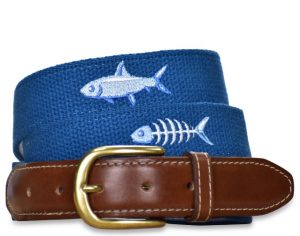 Catch of the Day: Embroidered Belt - Royal Blue