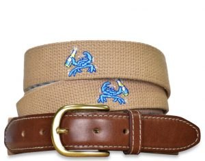 Beach Bash: Embroidered Belt - Beige
