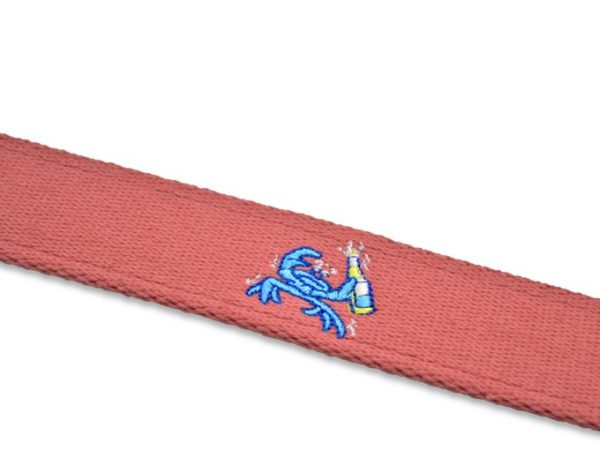 Beach Bash: Embroidered Belt - Coral