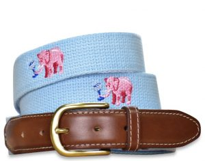 Tipsy Trunks: Embroidered Belt - Light Blue