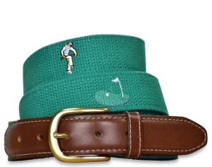 Mulligan: Embroidered Belt - Green