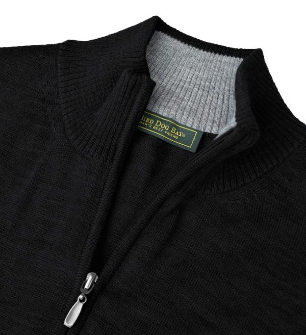 Royal Alpaca Sweater: Quarter Zip - Raven