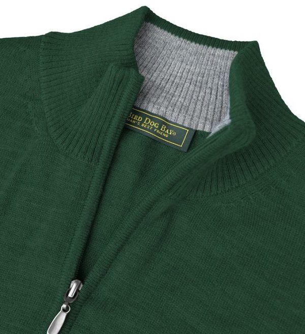 Royal Alpaca Sweater: Quarter Zip - Pine