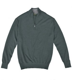 Royal Alpaca Sweater: Quarter Zip - Slate