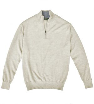 Royal Alpaca Sweater: Quarter Zip - Woodcock