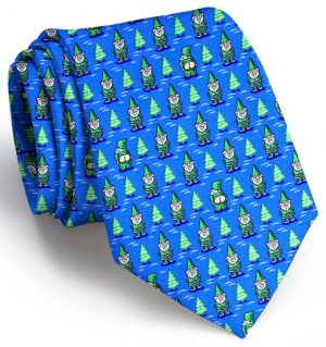 Cheeky Elves: Tie - Mid-Blue