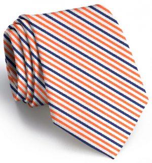 Emmet Stripe: Tie - Orange/Navy