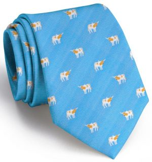 Longhorn Club Tie: Tie - Light Blue