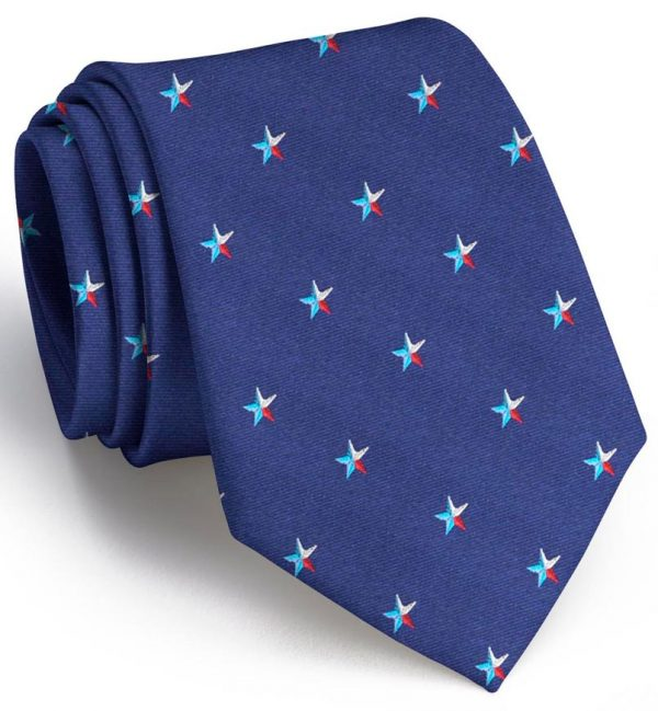 Texas Star Club Tie: Tie - Navy