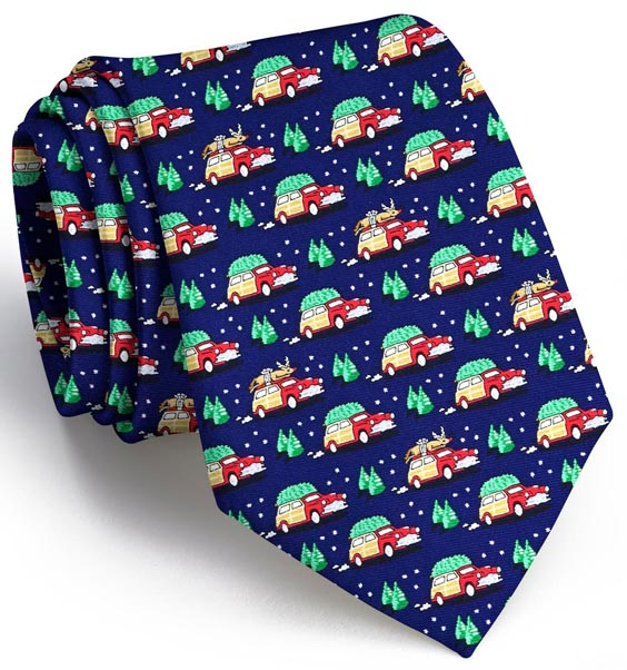 Up on the Rooftop: Tie - Navy